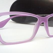 New Ray Ban Prescription Eyeglasses Rx 7022 5367 Clear Purple Rubber Frame 54 Rb Photo