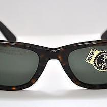 New Ray-Ban Rb 2140 902 50mm Wayfarer Sunglasses Havana / Green Lens Rb2140 Photo