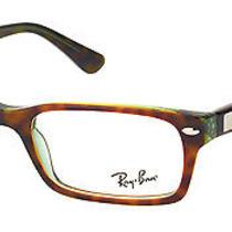 New Ray Ban Rx5206 2445 Havana Green Plastic Eyeglasses 52mm Photo