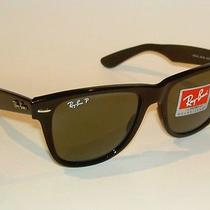 New Ray Ban Sunglasses Black Wayfarer Glass Polarized Rb 2140 901/58  Large 54mm Photo