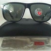 New Ray Ban Sunglasses Polar Rb4147 601/58 Black Frame Green Polarized Lens 60m Photo