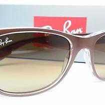 New Ray-Ban Sunglasses Rb 2132 614585 52mm  Brown/clear Brown Gradient Rb2132  Photo