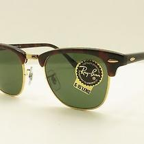 New Ray Ban Sunglasses Rb3016 W0366 Clubmaster Tortoise Frame Green Lens 49 Mm Photo