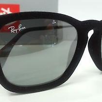 New Ray Ban Sunglasses Rb4187 60756g Chris Black Velvet Frame Gray Mirrored 54m Photo