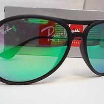 New Ray Ban Sunglasses Rb4201 622/3r Black Frame Green Mirror Lens 59m Rb 4201 Photo