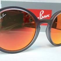 New Ray Ban Sunglasses Rb4222 6167/6q Shot Red Rubber Orange Mirror 50mm Photo