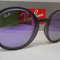 New Ray Ban Sunglasses Rb4222 6168/4v Shot Violet Rubber Violet Mirror 50mm  Photo