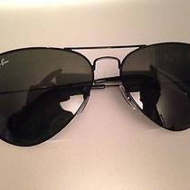 New Rayban Rb3025 Original Aviator Sunglasses 58mm Black Frame Black Lens Nwt Photo