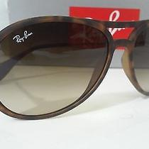 New Rayban Sunglasses Rb4201 865/13 Havana Rubber Frame Brown Gradient 59mm Photo