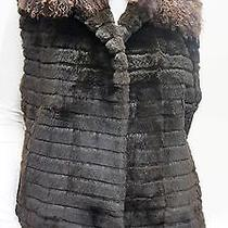 New Real Tibet Lamb Sheared Rabbit Fur Vest M  Photo