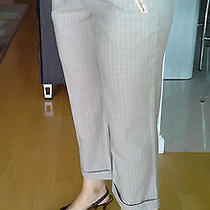 New Rebeca Taylor  Pair of Pants Waist & Pockets Decorated With Silk Sz 6 Photo