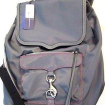 New Rebecca Minkoff Backpack Bike Share Gray Napsack Nwt Photo