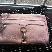 New Rebecca Minkoff Morning After Clutch Mac Baby Pink Sample Sale Made in Usa Photo