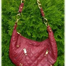 New Red Alexander Hobo Bag Quilted Big Gold Chain Photo