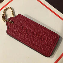 New Red Leather Coach Hang Tag Photo
