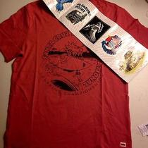 New Red Santa Cruz Skate/surf Shirt With Sticker Pack Size Small/medium Photo