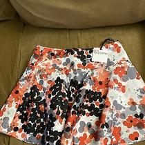 New Red Valentino Orange Black Gray Floral White Full Circle Mini Skirt Sz 6 Photo
