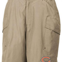 New - Reebok Chicago Bears Coaches Khaki Cargo Shorts Size Medium Photo