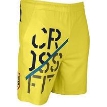 New Reebok Crossfit Games 2014 Men's Slim Shorts - Yellow - Medium Photo