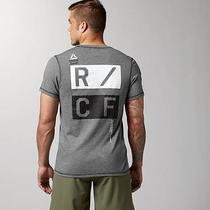 New Reebok Crossfit Men's T-Shirt Tee - Grey Black - Large - Z90400 Photo
