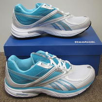 New Reebok Dmx Max Sneakers Womens Sz 9 Walking Shoes White/aqua Photo