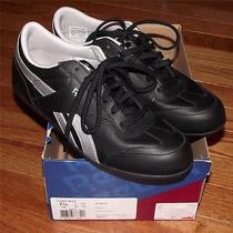New Reebok Women's Lucky Wish Sneakers Shoes Size 7.5 Black & Silver Classic Photo