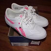 New Reebok Women's Lucky Wish Sneakers Shoes Size 7.5 White & Pink Classic Photo