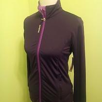 New Reebok Women's Sweater Full Zip Sz S Solid Purple Photo