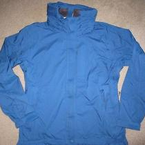 New Rei E1 Elements Royal Hooded Full Zip All Weather/rain Shell Jacket Size S  Photo