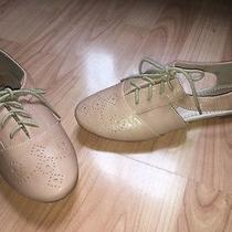 New Restricted Cut Out Blush Colored Oxford Lace Up Flats Shoes Size 7 Photo