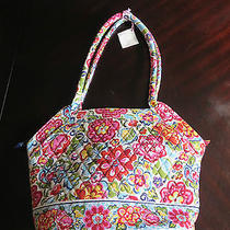 New Retired Vera Bradley Breast Cancer Hope Garden Angel Tote Handbag Floral Nwt Photo
