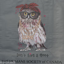 New Reusable Shopping Gift Bag Hip Hop Rap Owl Don't Give Hoot Humane Society Photo