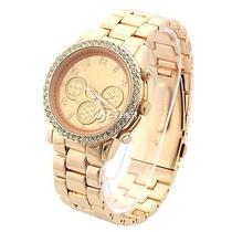 New Rhinestone Luxury Men's Quartz Watch Wristwatch Stainless Steel Watches Photo