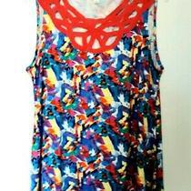 New Rise & Bloom Women's Sleeveless Top Size Xl Geometric Multicolored  Photo