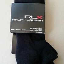 New Rlx Ralph Lauren Black Merino Wool Athletic Socks Photo