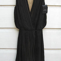 New Robert Rodriguez Pleated 'Little Black Dress' Moc Wrap Crossover Silk 0 425 Photo