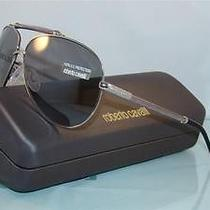New   Roberto Cavalli Cercione 299s 18c Silver Aviator Sunglasses Size 62 Photo