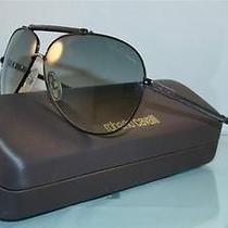 New   Roberto Cavalli Cercione 299s 731 Dark Gunmetal Aviator Sunglasses Size 62 Photo