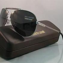 New   Roberto Cavalli Cercione 299s C91 Silver Aviator Sunglasses Size 62 Photo