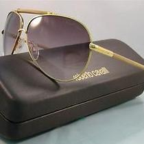 New   Roberto Cavalli Cercione 299s D26 Shiny Gold Aviator Sunglasses Size 62 Photo