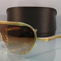New   Roberto Cavalli Eva 391s D26 Gold  Original Case Sunglasses Size 139 Photo