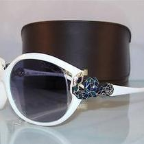 New   Roberto Cavalli Teseo 379s 483 White  Original Case Sunglasses Size 60 Photo