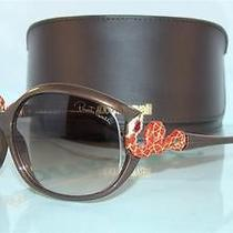 New   Roberto Cavalli Teseo 379s 530 Brown  Original Case Sunglasses Size 60 Photo