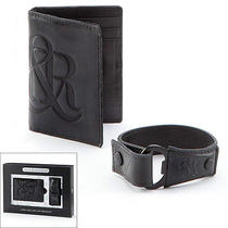 New Rock & Republic Leather Card Case & Cuff Bracelet Photo