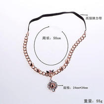 New Rose Gold Forehead Crystal Rivets Pendant Hair Accessories Hair Band Photo