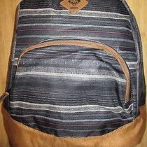 New Roxy Backpack Book School Student Bag Fairness True Black Photo