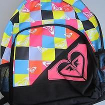 New Roxy Backpack Book School Student Laptop Bag Colorful Checks Photo