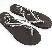 New Roxy Black Rio Flipflops Size 5m Photo