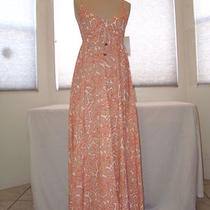 New Roxy Brand Luv My Sol Beach Blush Pink Print Maxi Dress Sz Medium Nwt's Photo