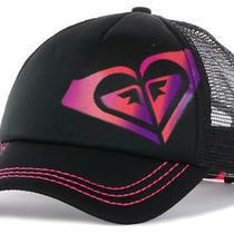 New Roxy Dig This Black Sunset Trucker Snapback Cap Hat Photo